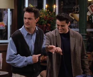 chandler bing, friends joey, and joey and chandler image