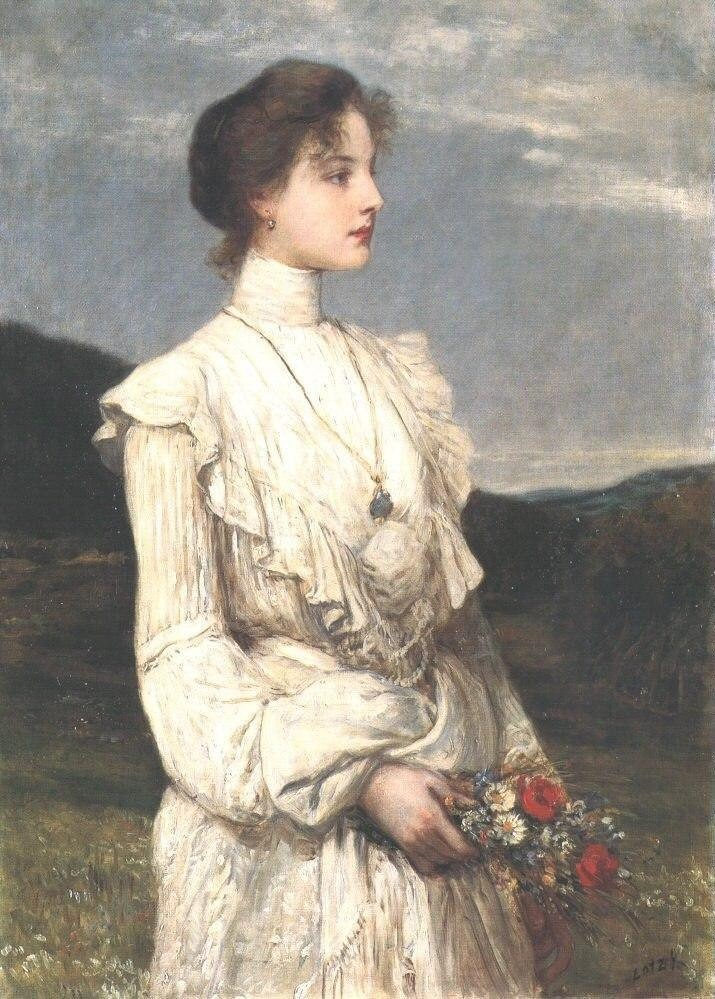art, lady, and oil on canvas image