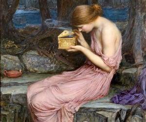 art, greek, and pandora image