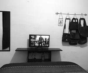 bedroom, minimalistic, and black image