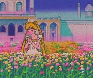 anime, flowers, and sailor moon image