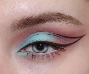 makeup, eyeliner, and eyeshadow image