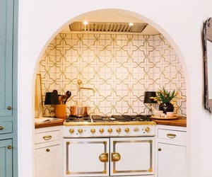 decor, gold, and kitchen image