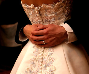 buttons, couple, and dress image
