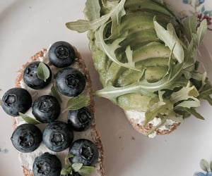 food, blueberries, and breakfast image