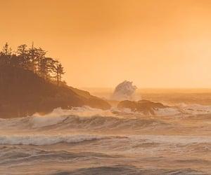 nature, ocean, and orange image