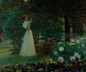 art, XIX century, and flowers image