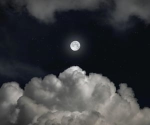 background, cloud, and moon image