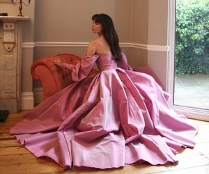 hair, dress dresses, and pink image