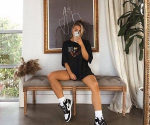 girl, mirror, and fashion image
