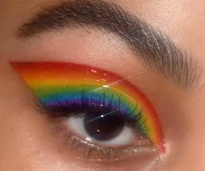 rainbow, makeup, and eyes image