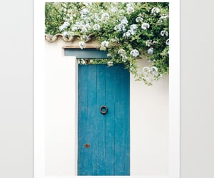 botanical, door, and flowers image