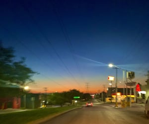blue, driving, and light image
