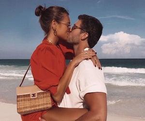 couple, beach, and fashion image