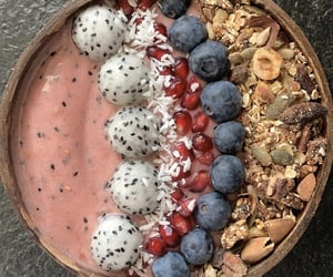 blueberries, breakfast, and coconut image