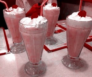 milkshake, food, and cherry image