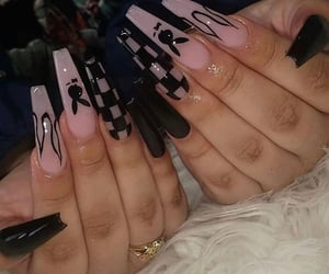 nails, black, and Playboy image