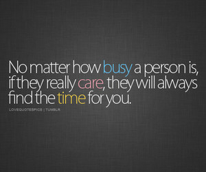 time, care, and quote image