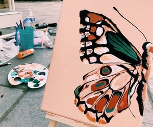 art, butterfly, and colors image