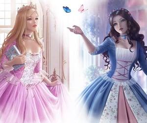 barbie, blue, and princess image