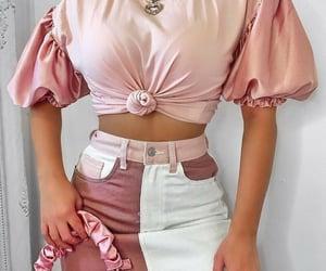 bag, co ord, and skirt image