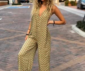 etsy, festival fashion, and hippie jumpsuit image