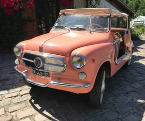 fiat, peach, and vintage image