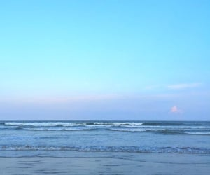 beach, blue, and wave image