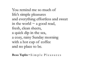 poetry, quote, and Simple Pleasures image