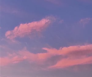 aesthetic, clouds, and peachy image