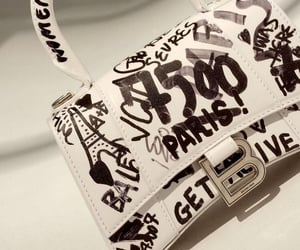 accessories, balenciaga bag, and white bag image