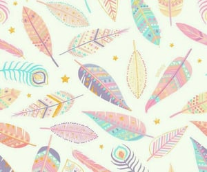 wallpaper, pattern, and feather image