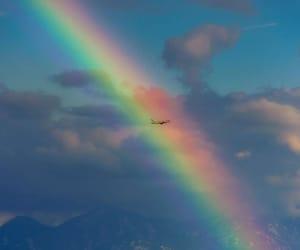 rainbow, travel, and instagram image