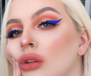 beauty, blue, and orange image