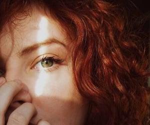 girl, green eyes, and hair image