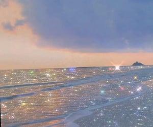 aesthetic, glitter, and ocean image