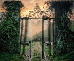 ethereal, gate, and photography image