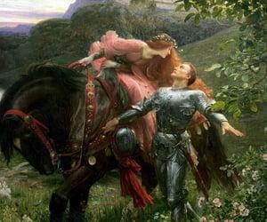 art, lady, and romance image