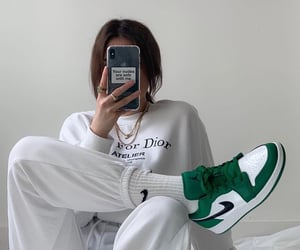 accessories, nike air force, and bedroom image