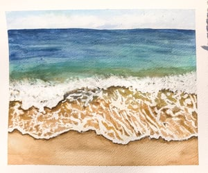 art, sand, and watercolor image