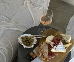 food, snack, and wine image