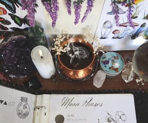 altar, witch, and witch aesthetic image