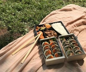 food, sushi, and picnic image