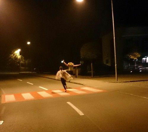 night, run, and street image