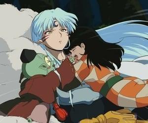 inuyasha, anime, and rin image