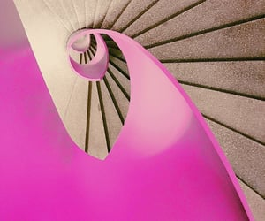 pink, spiral, and stairway image