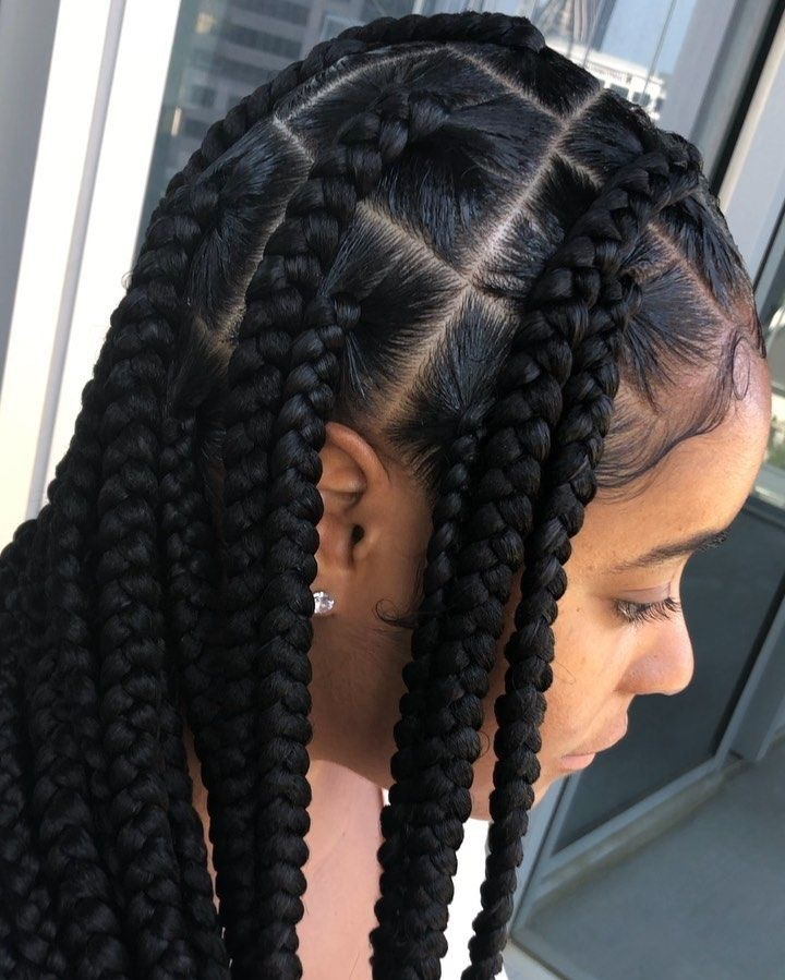 hairstyle, box braids, and baby hair image
