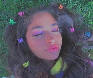 girl, aesthetic, and butterfly image