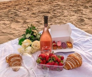food, croissant, and picnic image
