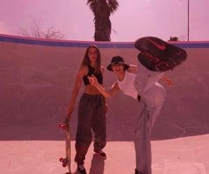 girl, aesthetic, and skate image